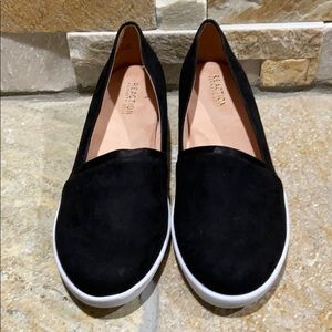 New, Kenneth Cole, black faux suede loafers